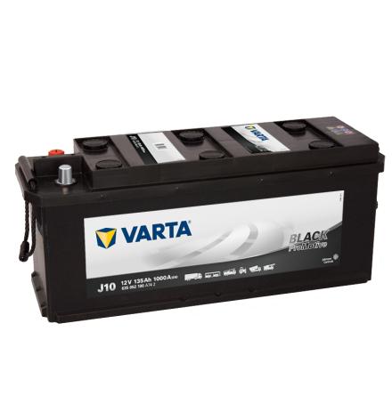 Bilbatteri 12V 135 Ah Varta J10 LxBxH=480/514x175x210mm PRO