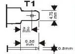 Faston T2 till FastonT1adapter