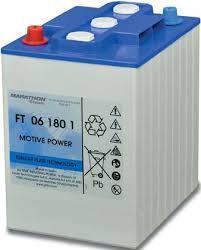 Rörcellsbatteri truckbatteri Tudor Exide 6V180Ah  LxBxH:244x190x275mm FT06180-1 hela 900 cykler Marathon Classic