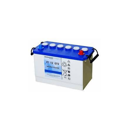 Rörcellsbatteri Tudor Exide 12V 72Ah FT12072 lxbxh= 326x174x218mm hela 900 cykler Marathon Classic