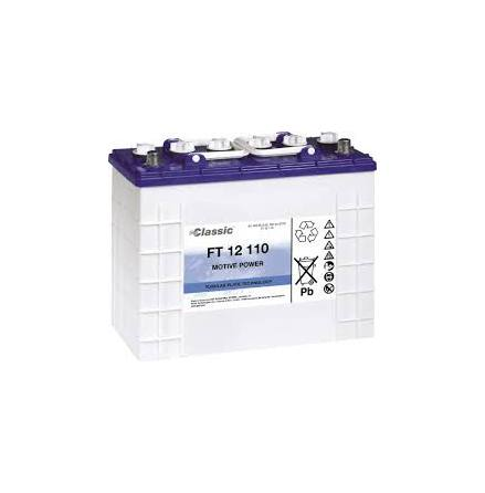 Rörcellsbatteri Tudor Exide 12V 110Ah FT12110C lxbxh=345x174x283mm hela 900 cykler Marathon Classic