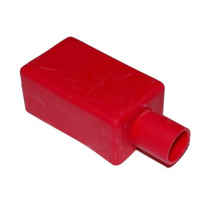 Batterikabelskoskydd röd rak för kabel 10-95kvmm