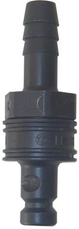 BFS koppling 10mm hane, grå