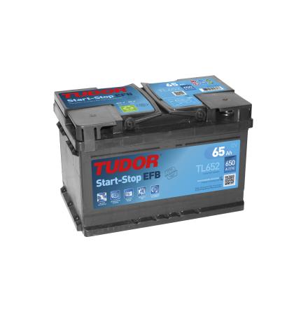 Startbatteri 65Ah Tudor Exide TL652 EFB. LxBxH:278x175x175mm