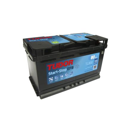 Startbatteri 80Ah Tudor Exide TL800 Start-Stop EFB. LxBxH:315x175x190mm