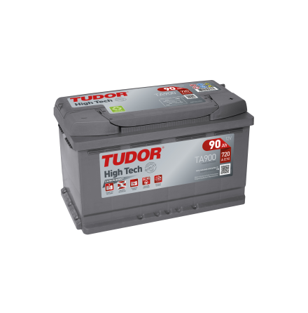 Startbatteri 90Ah Tudor Exide TA900 High Tech. LxBxH:315x175x190mm