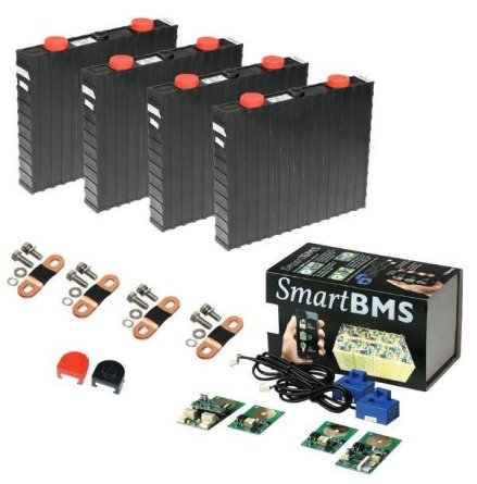 Lithium-Ion batteri(LiFePO4) 12V/300Ah. Komplett kit med Bluetooth övervakning!