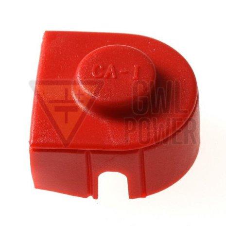 Batterikabelskoskydd röd för LiFePo4 batteri
