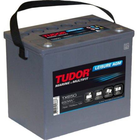 Fritidsbatteri 75Ah AGM Dual Tudor Exide TX650 LxBxH:270x173x223mm