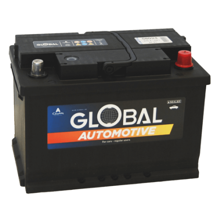 Bilbatteri 12V 80Ah Global 58024 LxBxH:278x175x190mm EAN:7394086580246