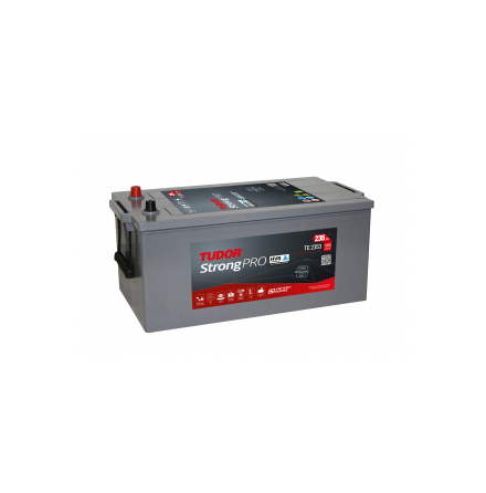 Startbatteri 12V 225Ah Tudor Exide Strong LxBxH:480/513x279x240mm PRO HVR TE2253