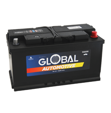 Bilbatteri 12V 100Ah Global 60038 LxBxH:353x175x190mm EAN:7394086600388