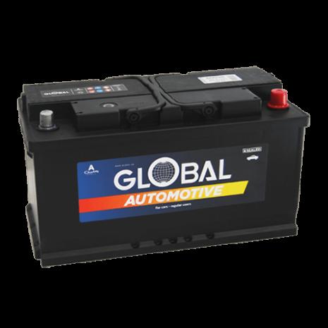 Bilbatteri 12V 100Ah Global 60038 LxBxH:353x175x190mm EAN:7394086600388