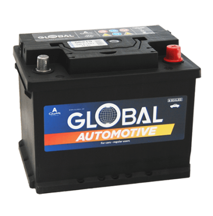 Bilbatteri 12V 62Ah Global 56219 LxBxH:242x175x190mm EAN:7394086562198