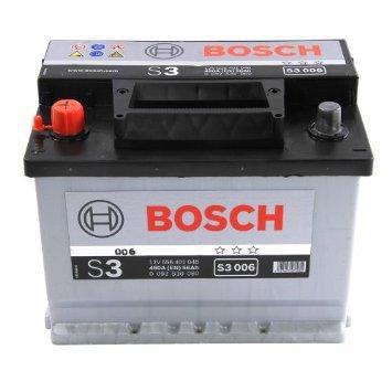 Bilbatteri 12V 56Ah Bosch S3006 ETN 556 401 048 LxBxH:242x175x190mm
