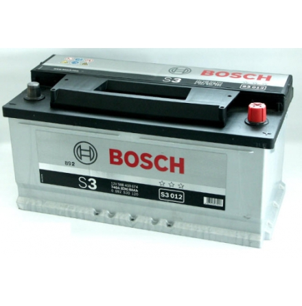 Bilbatteri 12V 88 Ah Bosch S3012 ETN: 588 403 074