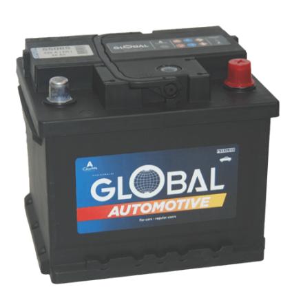 Bilbatteri 12V 50Ah Global 55085 LxBxH=207x175x175mm SMF LB1 STARTBATTERI 7394086550850