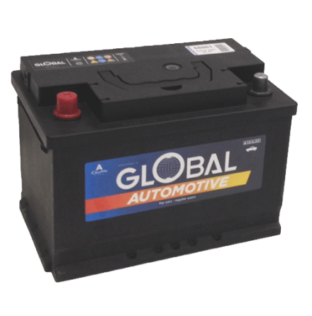 Bilbatteri 12V 80Ah Global 58001 LxBxH:278x175x190mm SMF L3 EAN 7394086580017