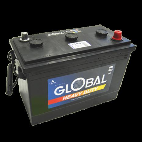 Bilbatteri 6V 160Ah Global 51160 LxBxH: 318x175x210/225mm EAN 7394086511608