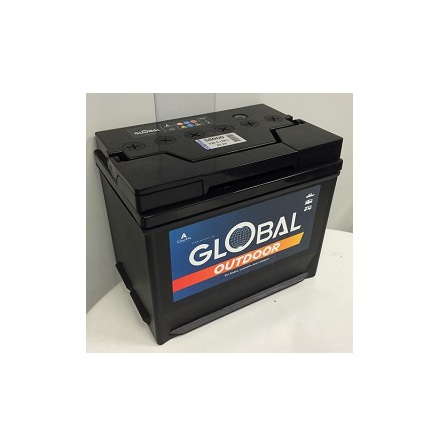 Fritidsbatteri 12V 80Ah Global 58000 LxBxH:265x174x224mm  EAN 7394086580000