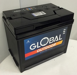Fritidsbatteri 12V 80Ah Global 58000 LxBxH:265x174x224mm  EAN 7394086580000