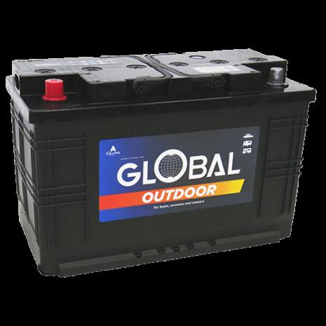 Fritidsbatteri 12V 110Ah Global 61000 LxBxH:345x174x210/230mm EAN 7394086610004