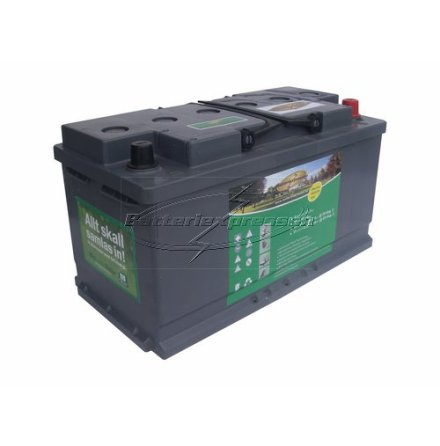 Marinbatteri GEL 80 Ah Batteriexpressen. LxBxH:353x175x190mm