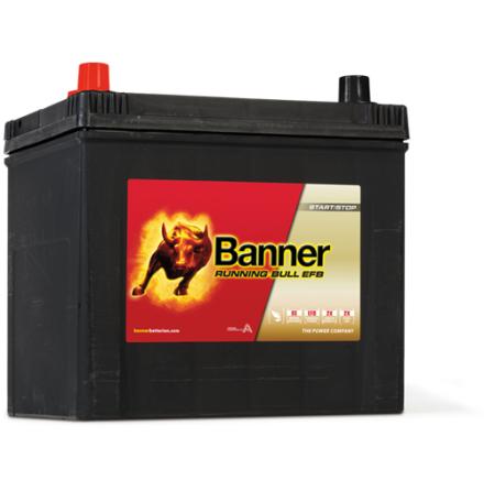 Bilbatteri 12V 65Ah BannerRunningBull EFB 56501. LxBxH:233x173x203/225mm Banner bäst i Testfakta 2013 och 2015