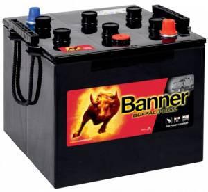 Startbatteri 12V125Ah BannerBuffaloBull 62523. LxBxH:280x267x213/230mm Banner Bäst i Testfakta 2013 och 2015