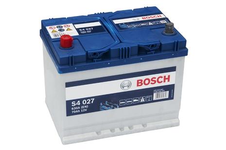 Bilbatteri 12V 70Ah Bosch S4027 DIN: 812071000 LxBxH:261x175x220mm