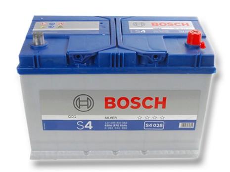 Bilbatteri 12V 95Ah Bosch S4028 DIN: 595404083 LxBxH:306x173x225mm