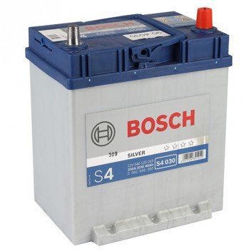 BILBATTERI 12V 40AH BOSCH S4030 DIN: 540125033 LxBxH:187x127x227mm