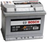 Bilbatteri 12V 63Ah Bosch S5005 DIN: 563400061 LxBxH:242x175x190mm