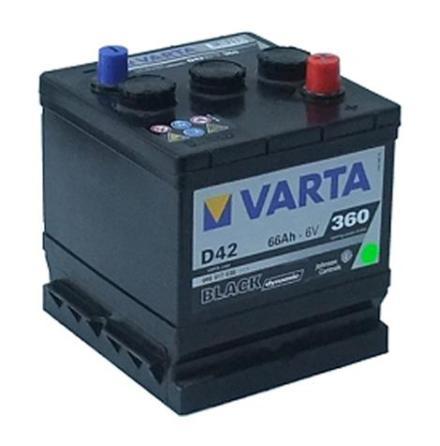 Bilbatteri Varta D42 Black Dynamic 6V 66Ah LxBxH=178x175x188mm 066017036
