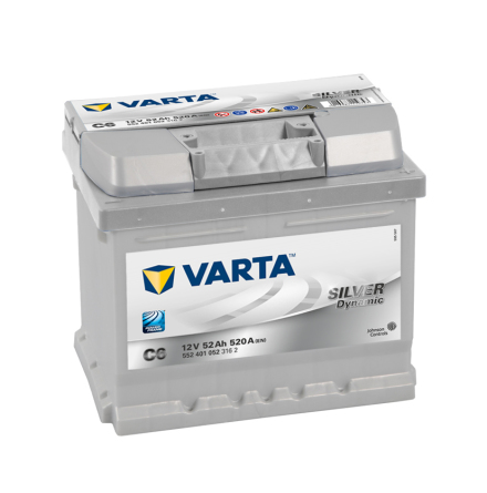 Startbatteri Varta C6 52Ah Silver Dynamic