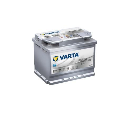 Bilbatteri 12V 60Ah Varta D52AGM Silver Dynamic LxBxH=242x175x190mm