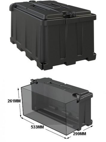 Batteribox stor innermått lxbxh 533x299x261mm