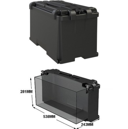 Batteribox innermått 538x243x281mm