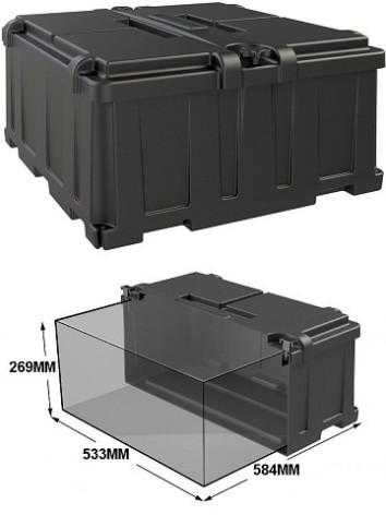 Batteribox innermått lxbxh 533x584x269mm