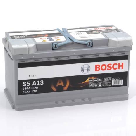 Bilbatteri AGM12V 95 Ah Bosch S6013 S5A13 LxBxH:353x175x190mm DIN:595901085