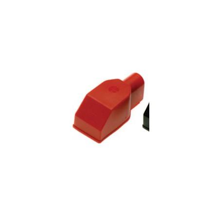 Batteripolskydd för bult.Röd