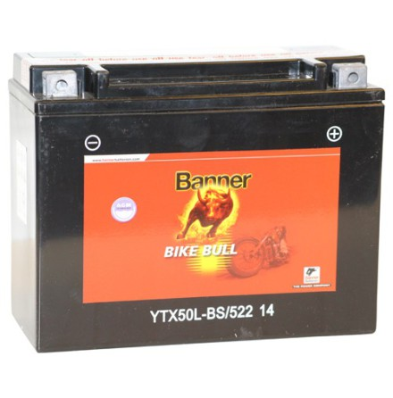 MC-batteri 22Ah YTX50L-BS Banner 52214 LxBxH:205x87x162mm