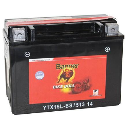 MC-batteri 13Ah YTX15L-BS Banner AGM 51314 LxBxH:175x87x130mm