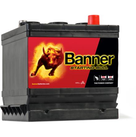 Bilbatteri 6V 66Ah Banner Starting Bull 06612. LxBxH:178x175x166mm