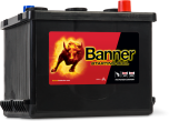 Bilbatteri 6V 77Ah Banner Starting Bull 07718. LxBxH:216x170x166/191mm