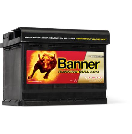 Bilbatteri 12V60Ah Banner Running Bull EFB 56000. LxBxH:242x175x190mm Banner bäst i Testfakta 2013 och 2015