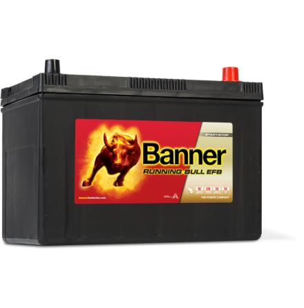 Bilbatteri 12V 95Ah BannerRunningBull EFB 59500. LxBxH:303x173x225mm Banner bäst i Testfakta 2013 och 2015