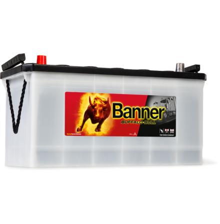 Bilbatteri 12V100Ah BannerBuffaloBull 60035. LxBxH:413x175x195/220mm Banner bäst i Testfakta 2013 och 2015