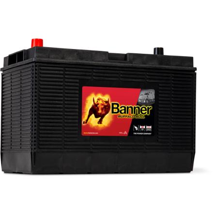 Bilbatteri 12V105Ah LxBxH:330x171x218/240mm BannerBuffaloBull 60502 Hela 1000CCA starteffekt! Banner Bäst i Testfakta 2013 och 2015