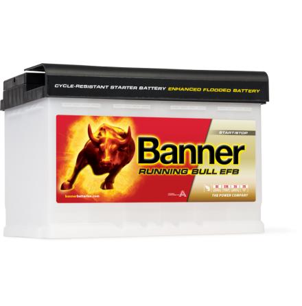 Bilbatteri 12V 70Ah Banner Running Bull EFB 57000. LxBxH:242x175x190mm Banner bäst i Testfakta 2013 och 2015